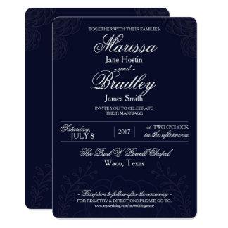 Classic Winter Wedding Invitation Template