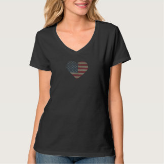 Classic Women's V-Neck Tee - Heart Your Country