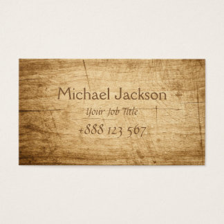Classic Wooden Pirates Style Business Card