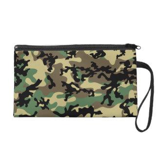 Classic Woodland Camo Wristlet Bag