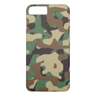 Classic Woodland Pattern Camo iPhone 7 Plus Case