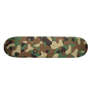 Classic Woodland Pattern Camo Skate Board Deck