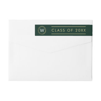 Classic Wreath EDITABLE COLOR Graduation Label