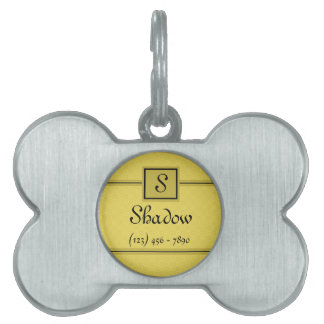 Classic Yellow and Black Pet Tag