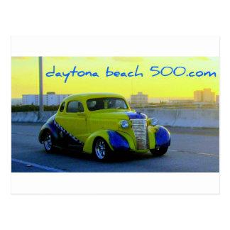 Classic Yellow Auto Postcard