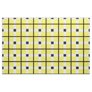 classic yellow retro plaid pattern squares fabric