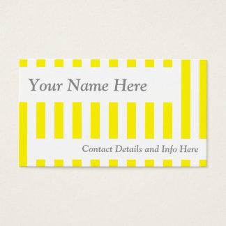 Classic Yellow Retro Stripes Business Card
