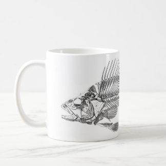 Classic Zoological Etching - Fish Skeleton Coffee Mug