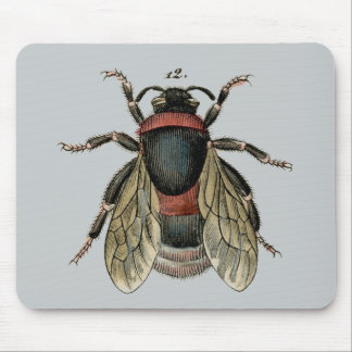 Classic Zoological Etching of a Bumble Bee Mouse Pad