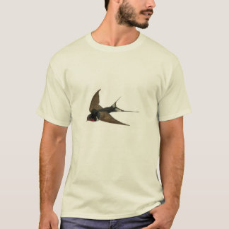 Classic Zoological Etching - Swallow T-Shirt