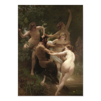 Classical Academic Art Nymphs and Satyr Card