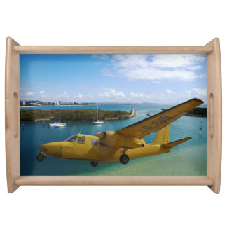 Classical airplane serving tray