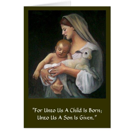 CLASSICAL ART CHRISTMAS CARD: MADONNA & CHILD CARD