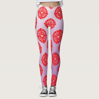 Classical Baroque seamless  pattern Leggings