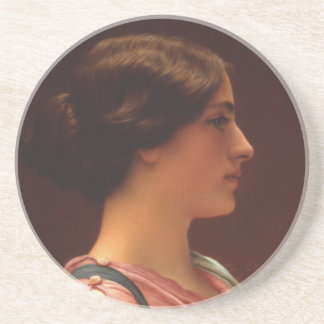 Classical Beauty by John William Godward Drink Coaster