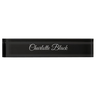 Classical Caligraphy Black White Professional Name Plate