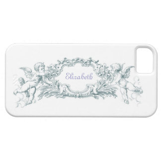 Classical Cherub customizable iPhone cover in blue