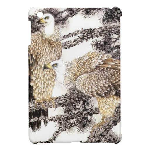 Classical Chinese style art, Birds in the trees iPad Mini Cover
