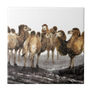 Classical Chinese style art, Herd of Camels Tile