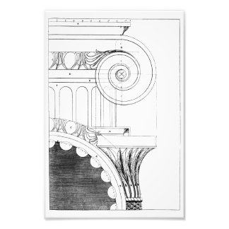Classical Column Profile and Capital Photo Print