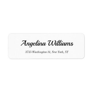Classical Elegant Handwriting White Modern Plain