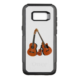 Classical Guitar Acoustic Bass and Ukulele OtterBox Commuter Samsung Galaxy S8+ Case