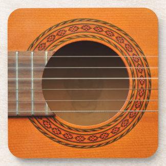 Classical guitar orange tan coaster