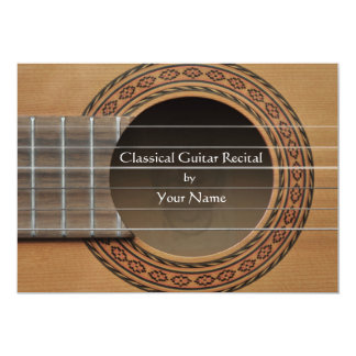 Classical Guitar Recital Invitation