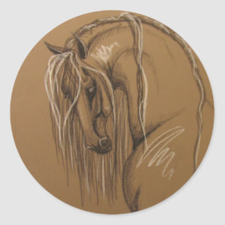 Classical Horse Drawing Classic Round Sticker