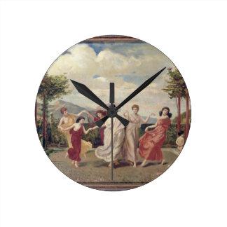 Classical Idyll (oil on canvas) Clock