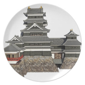 Classical Japanese Castle Plate