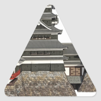 Classical Japanese Castle Triangle Sticker