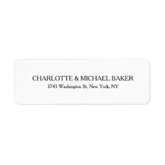 Classical Minimalist Plain Modern Family Name Return Address Label