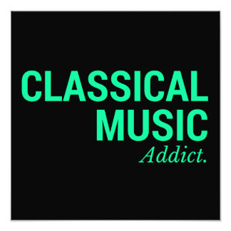 Classical music addict black photo art
