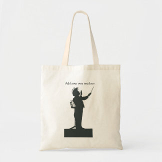 Classical Music conductor - holds sheet music Tote Bag