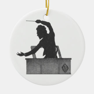 Classical Music conductor - vintage Mahler Ceramic Ornament