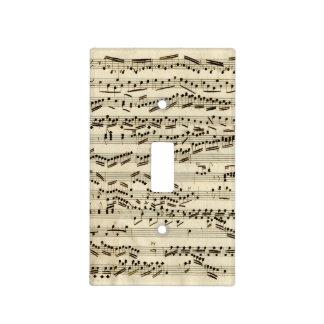 Classical Music Manuscript Vintage Light Switch Cover