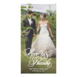 Classical Overlay | Wedding Thank You Photo Card