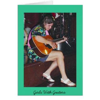 Classical Sass-Girls With Guitars Card