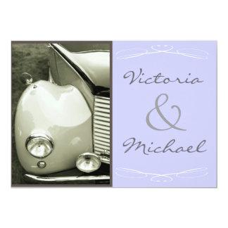 "Classical Vintage Motor Wedding 5"" X 7"" Invitation Card"
