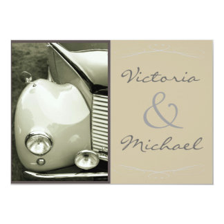 Classical Vintage Motor Wedding Card