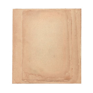 Classical Vintage Old Paper Looking Dark Brown Notepads