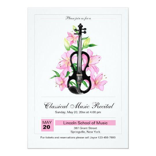 Classical Violin Invitation