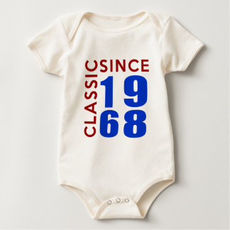 Classice Since 1968 Birthday Designs Baby Bodysuit