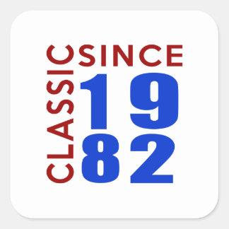 Classice Since 1982 Birthday Designs Square Sticker