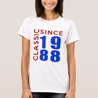 Classice Since 1988 Birthday Designs T-Shirt