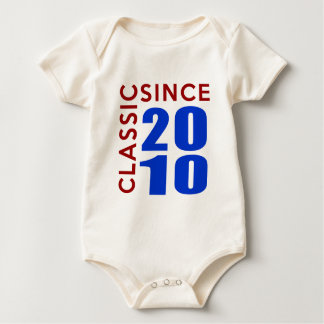 Classice Since 2010 Birthday Designs Baby Bodysuit