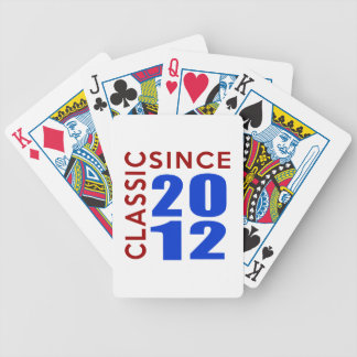 Classice Since 2012  Birthday Designs Bicycle Playing Cards