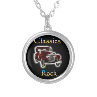 classics Rock 2 Silver Plated Necklace