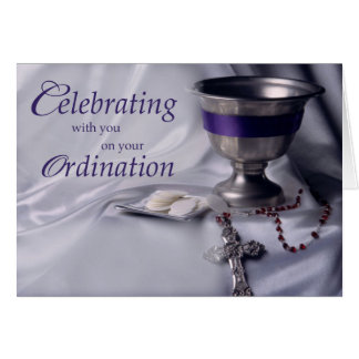 Classification, félicitations calice, chapelet carte de vœux